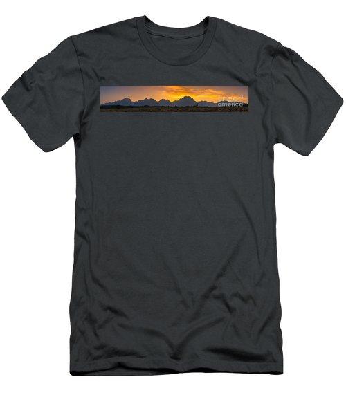 Grand Tetons Sunset Men's T-Shirt (Athletic Fit)