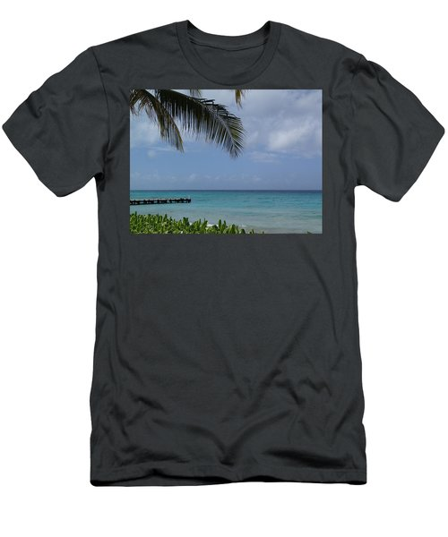 Grand Turk Men's T-Shirt (Slim Fit) by Lois Lepisto