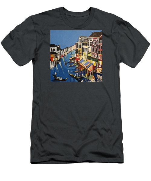 Grande Canal Men's T-Shirt (Slim Fit) by Donna Blossom