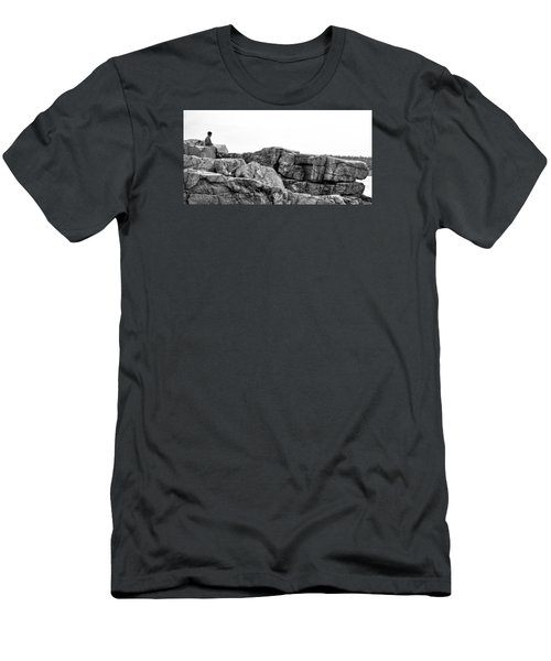 Granite Cliffs At Thunder Hole - Acadia - Maine Men's T-Shirt (Athletic Fit)