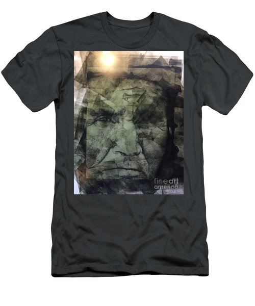 Granite Faces Of Men And Mountains Men's T-Shirt (Athletic Fit)