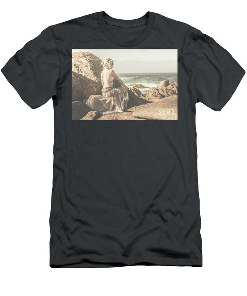 Granville Harbour Tasmania Fine Art Beauty Portrait Men's T-Shirt (Athletic Fit)