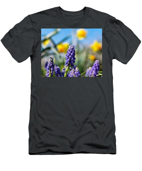 Grape Hyacinth Men's T-Shirt (Athletic Fit)
