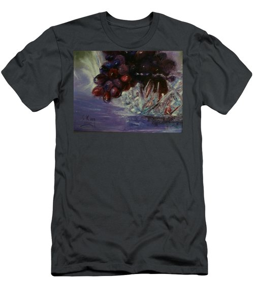 Grapes And Glass Men's T-Shirt (Athletic Fit)