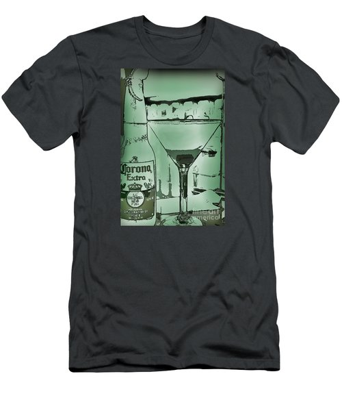 Men's T-Shirt (Slim Fit) featuring the photograph Graphic Refreshments by Pamela Blizzard
