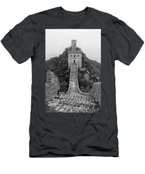 Men's T-Shirt (Slim Fit) featuring the photograph Great Wall 1, Jinshanling, 2016 by Hitendra SINKAR