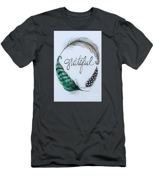 Grateful Men's T-Shirt (Slim Fit) by Elizabeth Robinette Tyndall