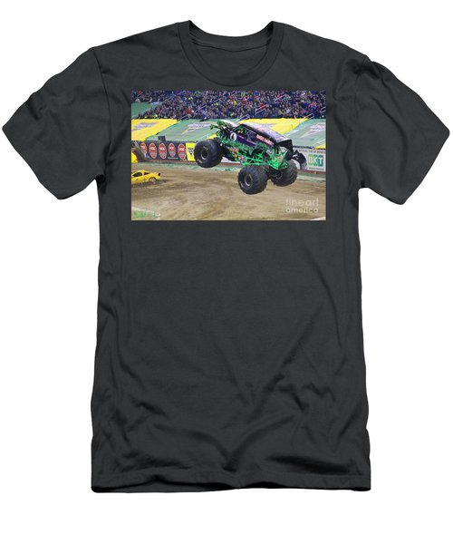 Grave Digger  Men's T-Shirt (Slim Fit) by Michael Rucker