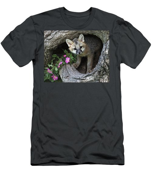 Gray Fox Kit Men's T-Shirt (Athletic Fit)