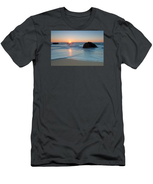 Gray Whale Cove State Beach 2 Men's T-Shirt (Slim Fit) by Catherine Lau