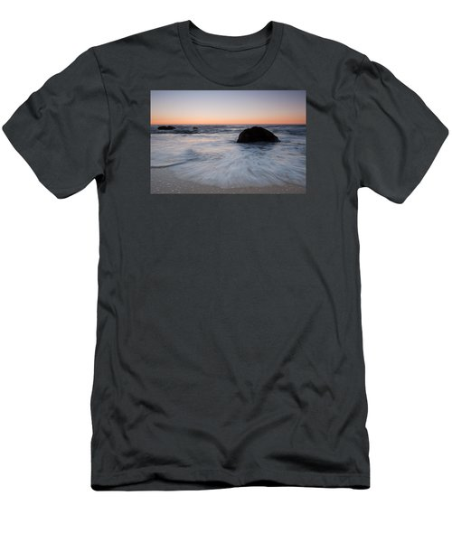 Gray Whale Cove State Beach Men's T-Shirt (Slim Fit) by Catherine Lau