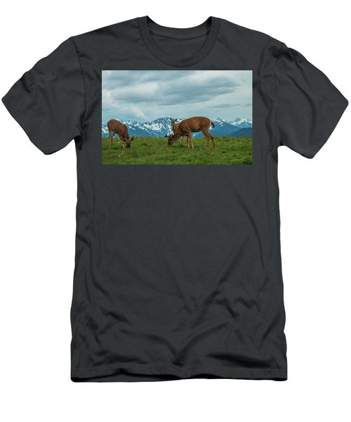 Grazing In The Clouds Men's T-Shirt (Athletic Fit)