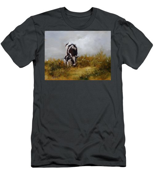 Grazing With Mom Men's T-Shirt (Athletic Fit)