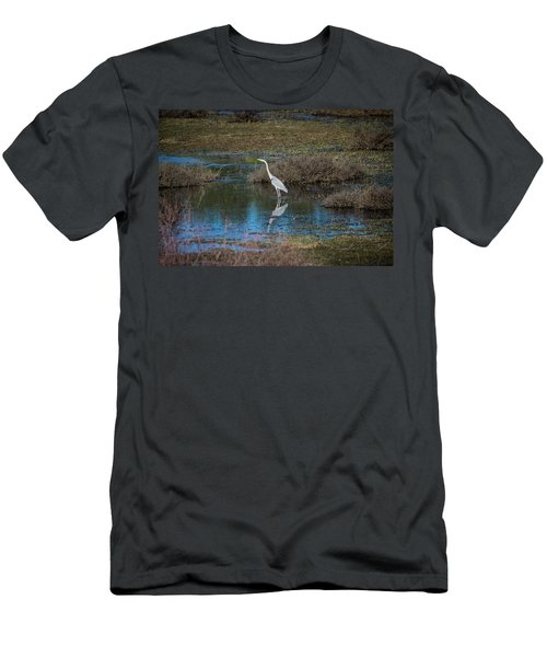Great Blue Heron Men's T-Shirt (Athletic Fit)