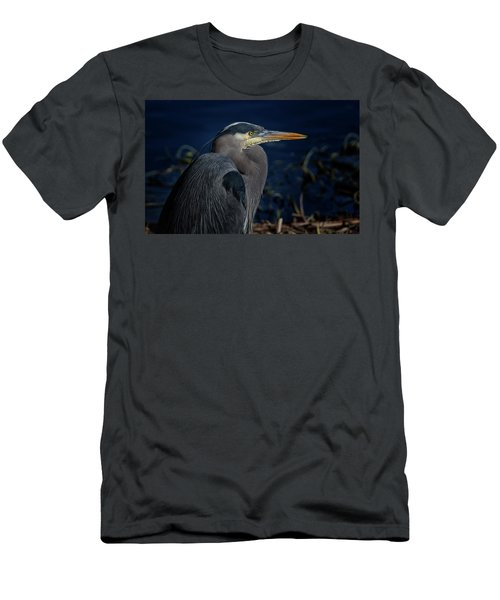Men's T-Shirt (Slim Fit) featuring the photograph Great Blue Heron by Randy Hall
