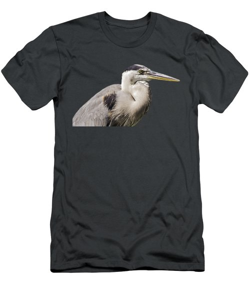 Great Blue Heron Transparency Men's T-Shirt (Athletic Fit)