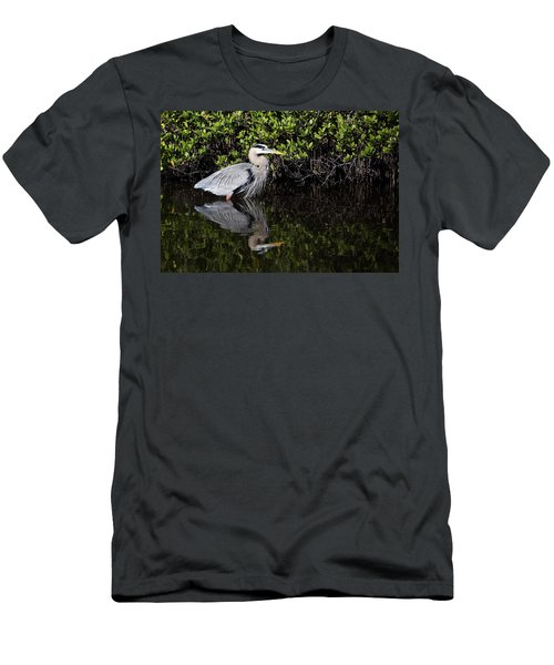 Great Blue Heron With Reflection Men's T-Shirt (Athletic Fit)