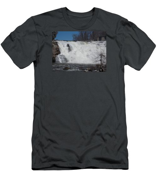 Great Falls In Canaan Men's T-Shirt (Slim Fit) by Catherine Gagne