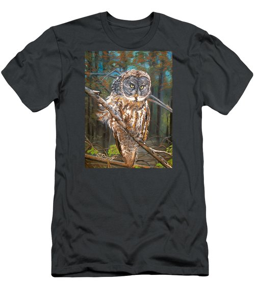 Great Grey Owl 2 Men's T-Shirt (Athletic Fit)