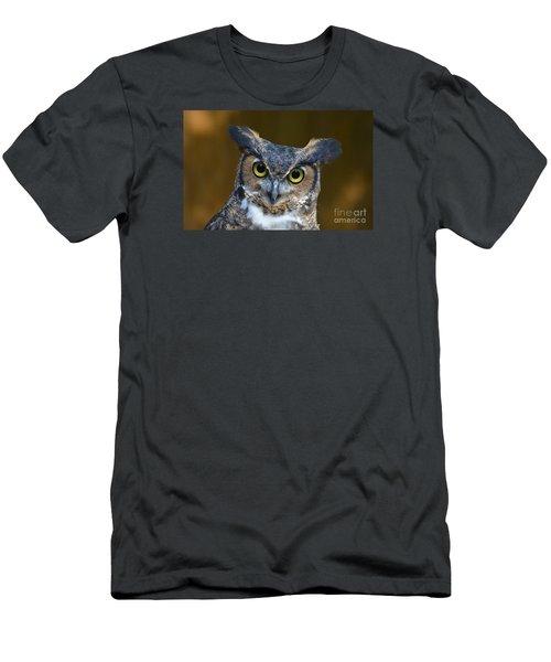 Great Horned Owl Portrait Men's T-Shirt (Slim Fit)