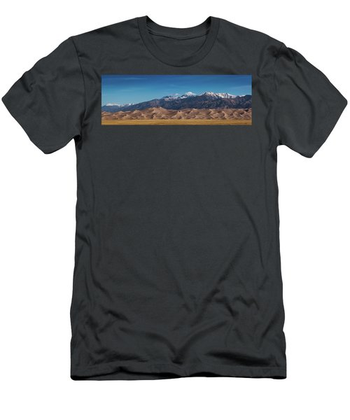 Men's T-Shirt (Athletic Fit) featuring the photograph Great Sand Dunes Panorama 3to1 by Stephen Holst