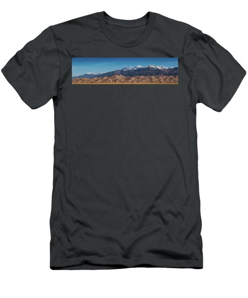 Men's T-Shirt (Athletic Fit) featuring the photograph Great Sand Dunes Panorama 4to1 by Stephen Holst