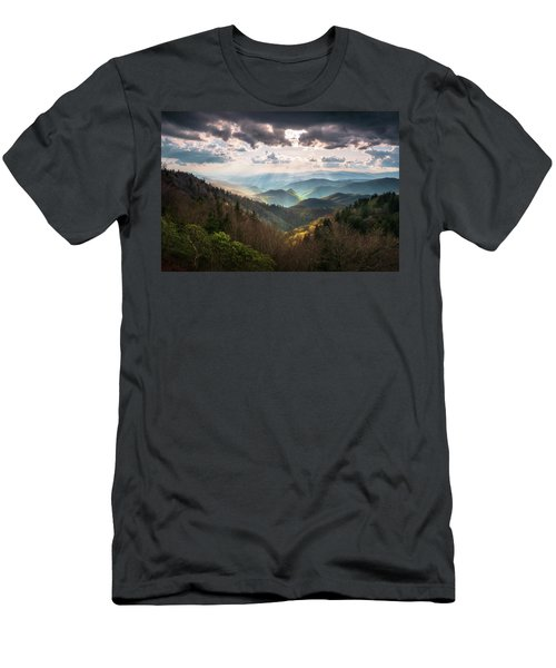 Great Smoky Mountains National Park North Carolina Scenic Landscape Men's T-Shirt (Athletic Fit)