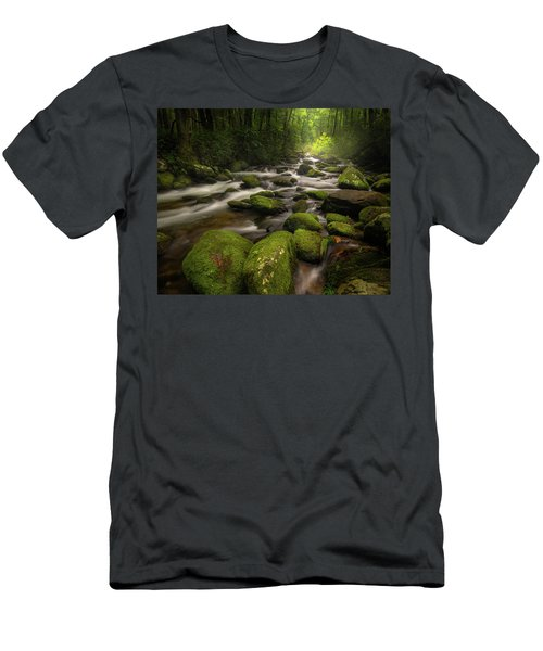 Great Smoky Mountains Roaring Fork Men's T-Shirt (Athletic Fit)