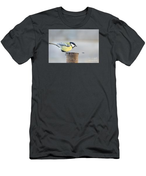 Great Tit On The Tube  Men's T-Shirt (Athletic Fit)
