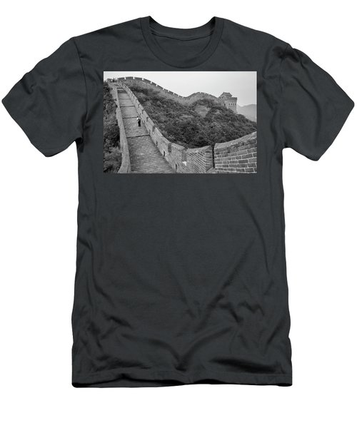 Men's T-Shirt (Slim Fit) featuring the photograph Great Wall 9, Jinshanling, 2016 by Hitendra SINKAR