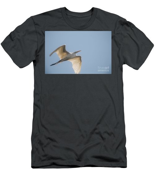 Men's T-Shirt (Slim Fit) featuring the photograph Great White Egret - 2 by David Bearden