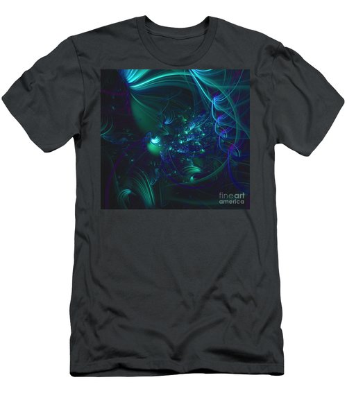 Green And Blue Escape Men's T-Shirt (Athletic Fit)