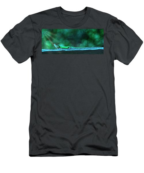 Green Anole Lizard Men's T-Shirt (Athletic Fit)