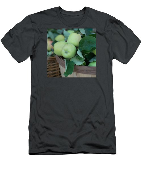 Green Apples In A Basket  Men's T-Shirt (Slim Fit) by Michael Moriarty