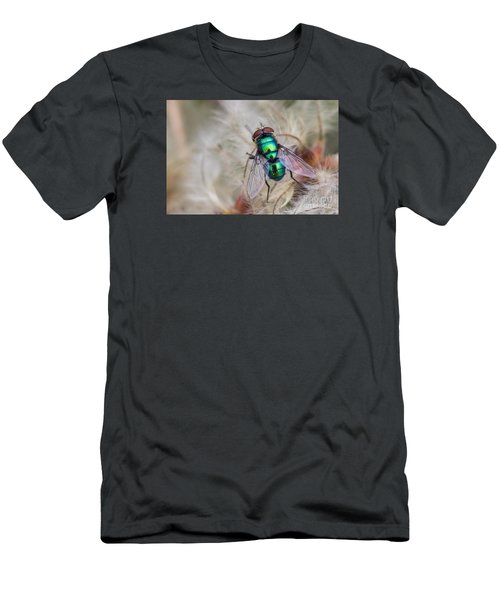 Green Bottle Fly Men's T-Shirt (Slim Fit) by Jivko Nakev