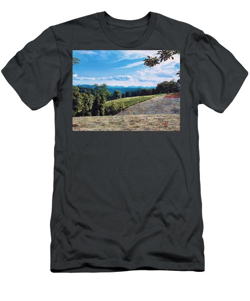 Men's T-Shirt (Slim Fit) featuring the painting Green Country by Joshua Martin