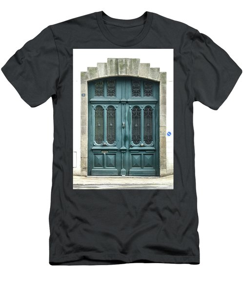 Green Door Men's T-Shirt (Slim Fit) by Helen Northcott
