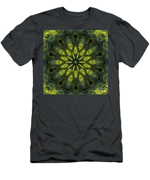Succulent Mandala Men's T-Shirt (Athletic Fit)