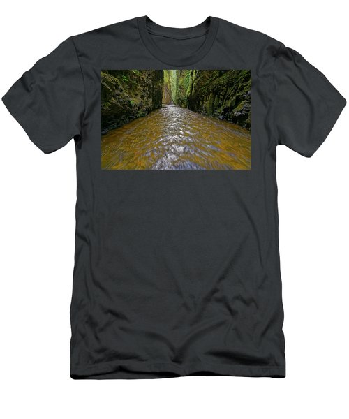 Green Flow Men's T-Shirt (Slim Fit) by Jonathan Davison