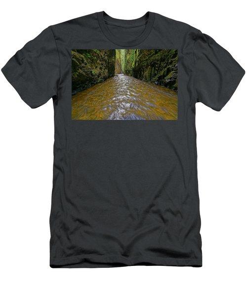 Men's T-Shirt (Slim Fit) featuring the photograph Green Flow by Jonathan Davison