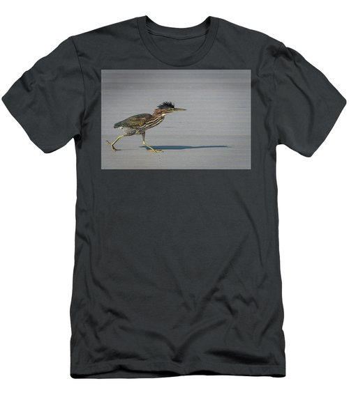 Men's T-Shirt (Athletic Fit) featuring the photograph Green Heron On A Mission by Cindy Lark Hartman