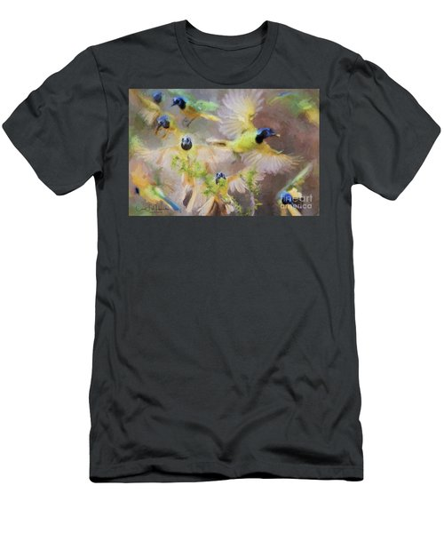 Green Jay Collage Men's T-Shirt (Athletic Fit)