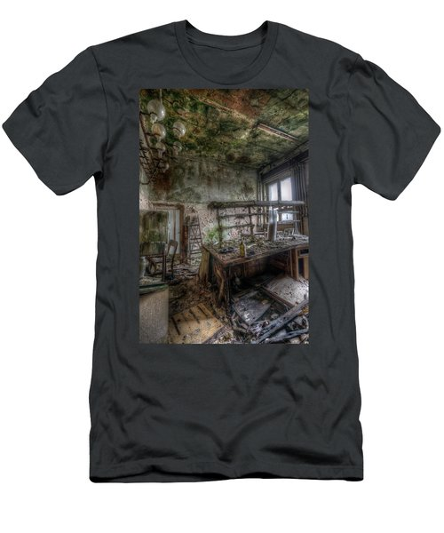 Men's T-Shirt (Slim Fit) featuring the digital art Green Lab by Nathan Wright