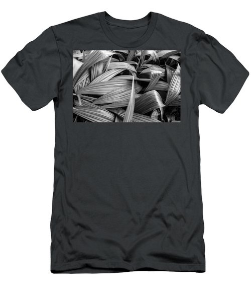 Leaves Textured And Background Men's T-Shirt (Slim Fit) by Jingjits Photography