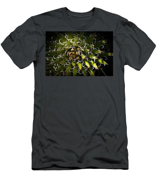 Men's T-Shirt (Slim Fit) featuring the photograph Green Plant by Catherine Lau