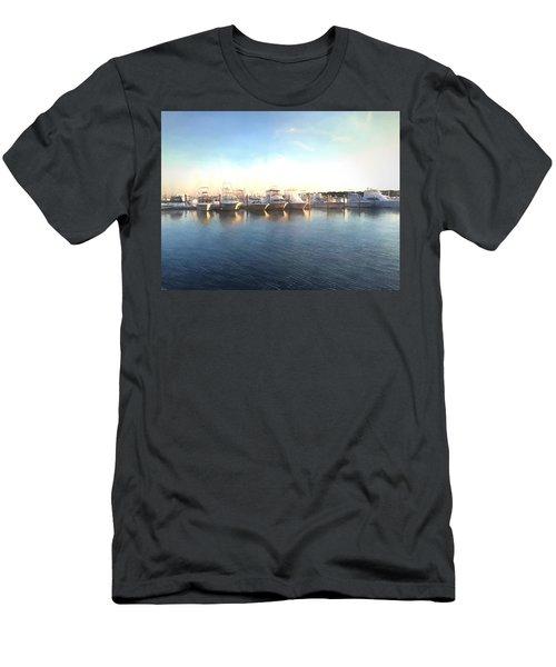 Green Pond Harbor Men's T-Shirt (Athletic Fit)