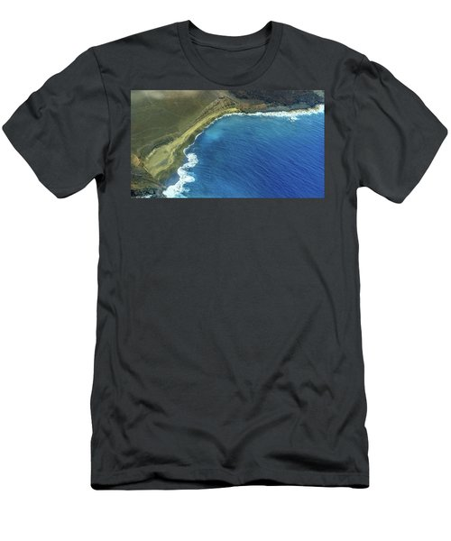Green Sand Beach Aerial Men's T-Shirt (Athletic Fit)