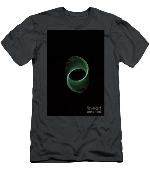 Green Spiral Men's T-Shirt (Athletic Fit)