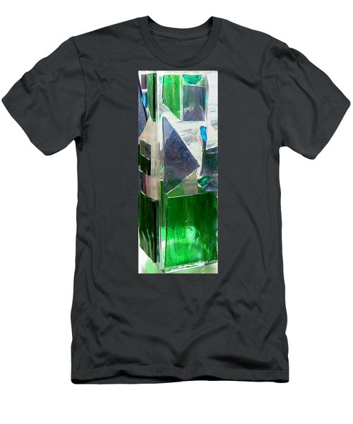 Men's T-Shirt (Slim Fit) featuring the glass art Green Vase by Jamie Frier