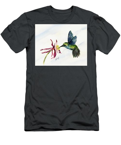 Green Violet-ear Hummingbird Men's T-Shirt (Slim Fit) by Sam Sidders